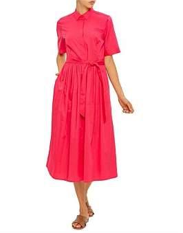David Jones Cotton Midi Shirt Dress