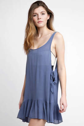 South Moon Under Scoop Front Tie Side Tank Dress Cover up
