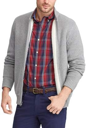Chaps Men's Sherpa-Lined Baseball Jacket