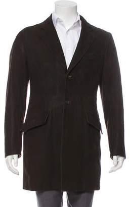 Miu Miu Leather Peak-Lapel Jacket