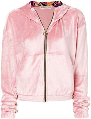 Emilio Pucci plush zipped hoodie
