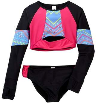 Limeapple Cropped Rash Guard Set (Little Girls & Big Girls)