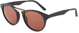 31d9efbf8c Smoke X Mirrors Black Betty Acetate Stainless Steel Round Sunglasses