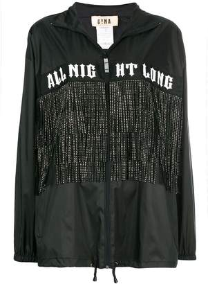 Gina fringed printed zipped coat