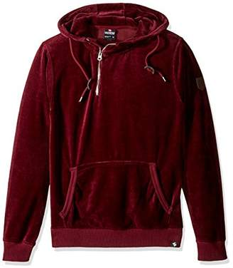 Southpole Men's Long Sleeve Pull Over Hooded Fleece in Premium Solid Velour