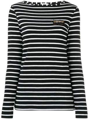 Dondup striped logo jersey