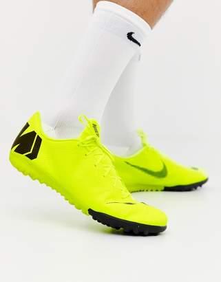 18bfcd29faef39 Nike Football Vapor X 12 Academy Astro Turf Trainers In Green AH7384-701