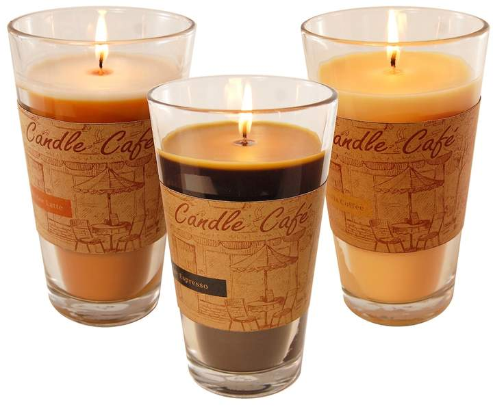 Lumabase LumaBase Coffee Collection 11-oz. Candle Jar 3-piece Set