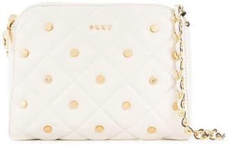 DKNY gold studded quilted shoulder bag