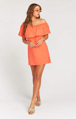 Show Me Your Mumu Can Can Dress ~ Coral Linen