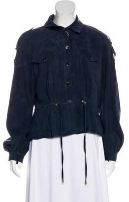 Diane von Furstenberg Suede Button-Up Jacket w/ Tags