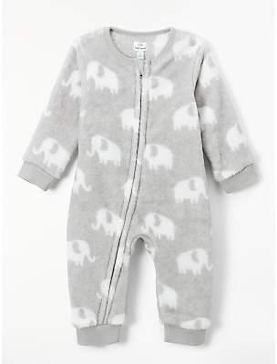 John Lewis   Partners Baby Elephant Fleece Onesie c43e8893a