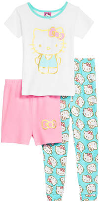Hello Kitty Toddler Girls 3-Pc. Cotton Pajama Set, Created for Macy's