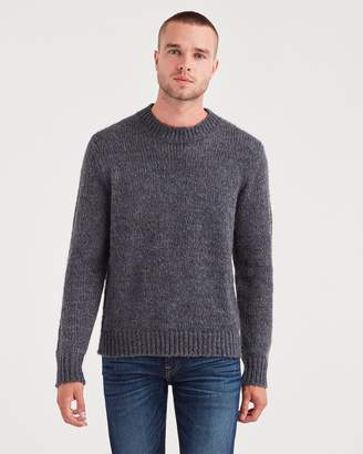 7 For All Mankind Mohair Crewneck Sweater in Charcoal