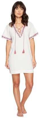 Lucky Brand - Lace-Up Caftan Women's Pajama $58 thestylecure.com