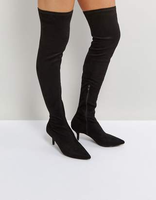 Raid RAID Clare Black Kitten Heel Over The Knee Boots