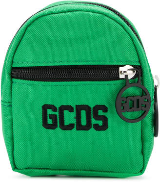 Gcds logo embroidered mini backpack wallet