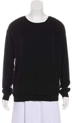 Vince Silk-Accented Long Sleeve Top