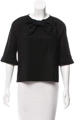 DSQUARED2 Bow-Accented Long Sleeve Top