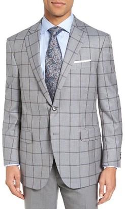 Men's Peter Millar Classic Fit Windowpane Wool Sport Coat $695 thestylecure.com