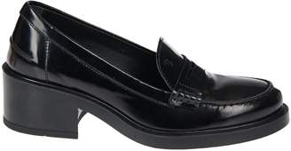 0bd63d080f9f Leather Chunky Heel Loafer - ShopStyle