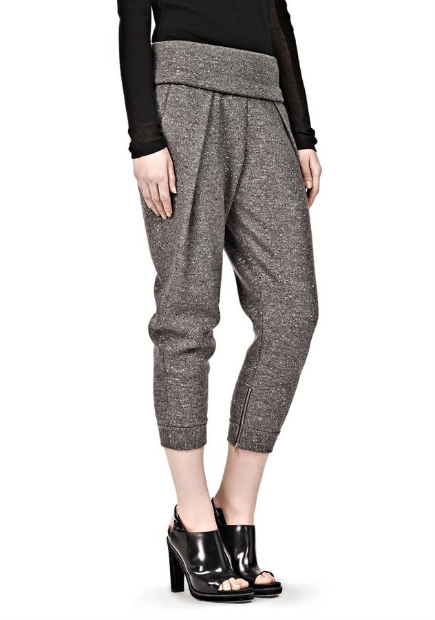 Alexander Wang Low Rise Pleated Jogging Trouser