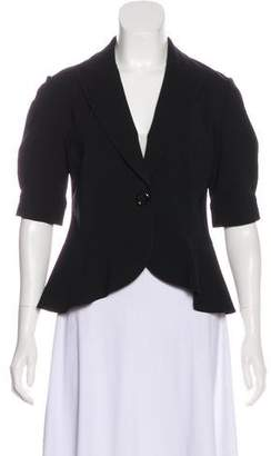 Lafayette 148 Short-Sleeve Notch-Lapel Blazer