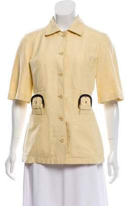 Stella McCartney Buckle-Accented Short Sleeve Jacket