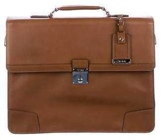 Tumi Leather Flap Briefcase