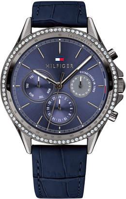 Tommy Hilfiger Women Blue Leather Strap Watch 38mm