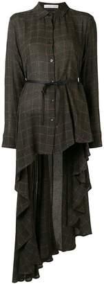 Palmer Harding Palmer / Harding check asymmetric hem shirt