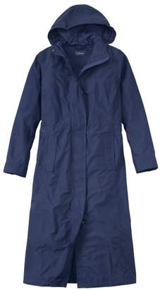 L.L. Bean L.L.Bean Women's H2OFF Raincoat, Mesh-Lined Long