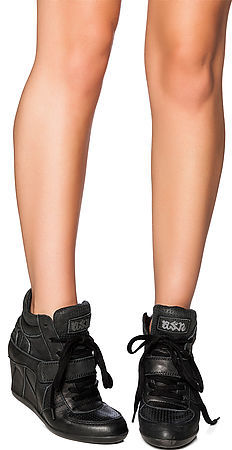 Ash Shoes The Bowie Sneaker in Black Nappa Wax