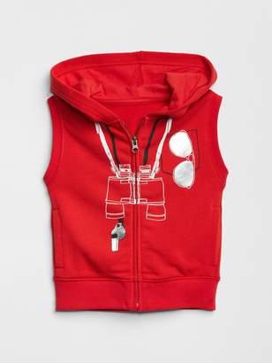Gap Beach Fleece Hoodie Vest