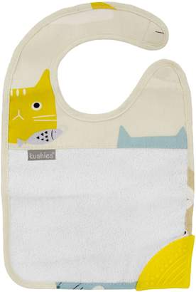Kushies Silidrool Bib with Silicone Teether
