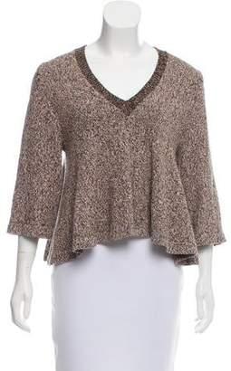 Apiece Apart Flared Long Sleeve Sweater