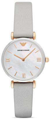 Emporio Armani Analog Leather Strap Watch, 32mm $245 thestylecure.com