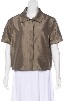 Magaschoni Short Sleeve Collared Jacket