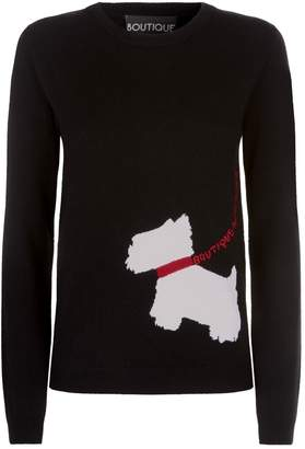 Moschino Scotty Dog Intarsia Sweater