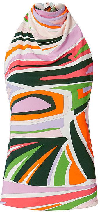 Emilio PucciEmilio Pucci Geo Print Halter Neck Top