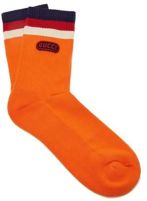 Gucci Logo-embellished striped ankle socks