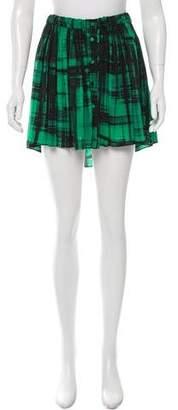 Thakoon Silk Abstract Skirt