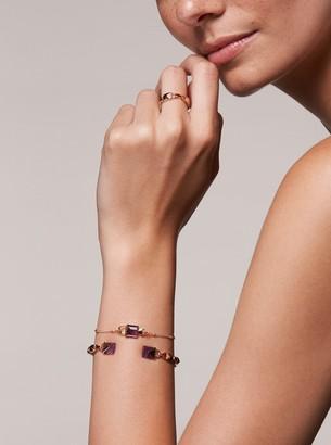 Michael Kors 14K Rose Gold-Plated Sterling Silver Lock Bracelet