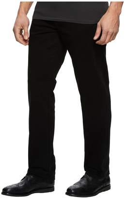 Liverpool Relaxed Straight Stretch Denim in Black Rinse Men's Jeans