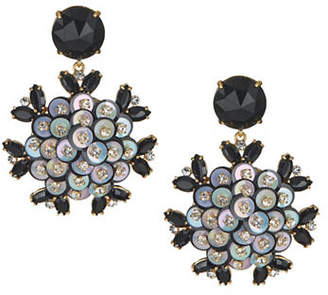 Kate Spade Crystal Floral Drop Earrings