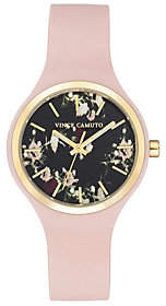 Vince Camuto Women's Floral Light Pink Silicone