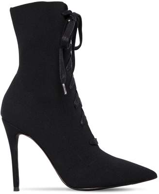 Steve Madden 100mm Kennedy Stretch Knit Lace-Up Boots