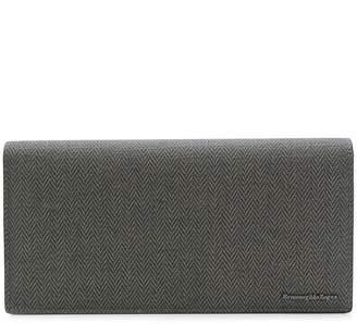 Ermenegildo Zegna herringbone continental wallet