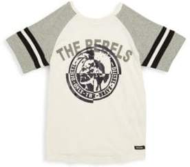 Diesel Boy's Colorblock Raglan-Sleeve Cotton Tee