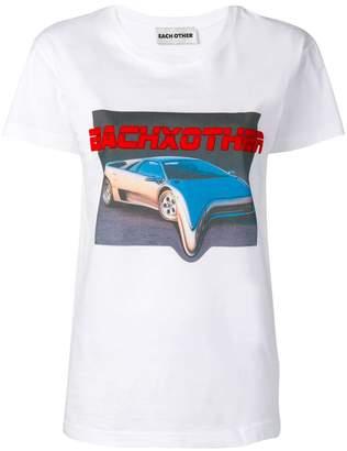 Each X Other liquid car print T-Shirt